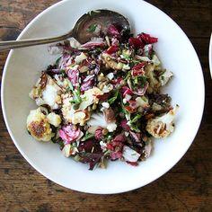 Lentil Salad with Roasted Radicchio & Cauliflower  Recipe on Food52 recipe on Food52