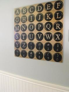 Pottery Barn Knock Off Tutorial for Typewriter Key Wall Decor.  Yes, I have a little bit of drool in the corners of my mouth *Ü*  Her blog is a-m-a-z-i-n-g!