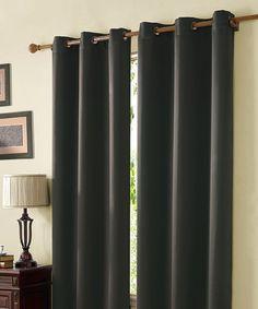 Look at this #zulilyfind! Mckenzie Twill Blackout Curtain Panel #zulilyfinds
