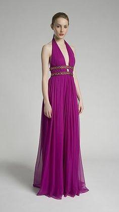 ...........................Vestido de Fiesta Color Purpura