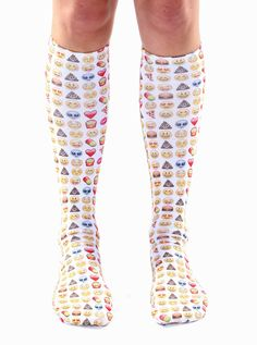 """WE LOVE USING EMOJIS! *UNISEX *100% POLYESTER *MADE IN THE USA *ONE SIZE FITS MOST *WOMEN'S SHOE SIZE 4-12 *MENS SHOE SIZE 6-13 *20"""" L X 4"""" W"""