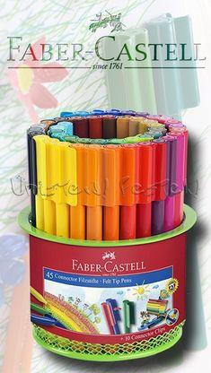 """Filctoll készlet - Faber-Castell 45 """"Connector"""" Felt Tip Pens Faber Castell, Felt, Google, Feltro, Felting"""