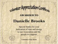 Thanks For Volunteering   Volunteer thank you certificate