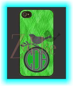 Custom Monogram Bird Phone Case on Etsy, $10.00