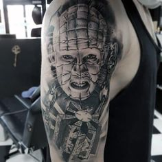 Evil Tattoos, Scary Tattoos, Dad Tattoos, Tattoos For Guys, Horror Movie Tattoos, Horror Movies, Tattoo Nightmares, Grim Reaper Art, Horror Artwork
