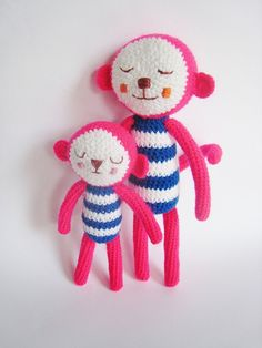 Sleepy Monkey  Peter and Peter Jr by Pfang on Etsy,