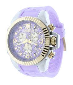 eaa81e32226 Technosport TS-100-9RL Women s Chronograph Swiss Watch Lavender And  Gold-Tone Dial