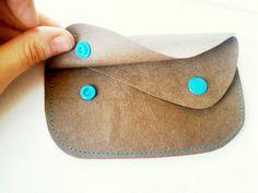 DIY kleine Geldbörse aus SnapPap mit Kam Snap Button