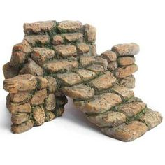 "Add varying height to your fairy garden or terrarium with this miniature stone stairs. 5.5"" wide by 6"" deep.                                                                                                                                                                                 More"