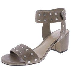 55ce23d59b 424 Fifth Womens Harrow Taupe Ankle Strap Sandals Heels 8 Medium (B,M)