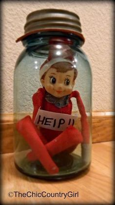 elf on the shelf (13)...ate all the cookies in the cookie jar