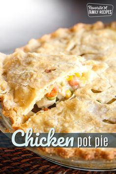 Homemade Chicken Pot Pie, Homemade Soup, Chicken Recipes, Family Recipes, Family Meals, Brunch Recipes, Easy Dinner Recipes, Good Food, Yummy Food