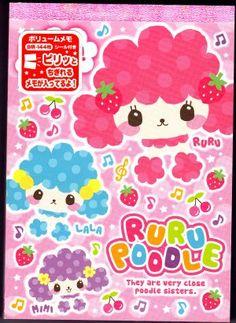 Mind Wave Japan Ruru Poodle Memo Pad with Stickers Kawaii
