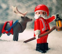 Santa ....part of a playmobile set...too cute