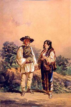 Amedeo Preziosi - Peasants in Campulung Folk Fashion, Ottoman Empire, Maltese, My Beauty, Identity, Moldova, Culture, Wikimedia Commons, Hungary