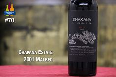The 2011 Estate Selection, much like the 2010, is 100% Malbec all from their Agrelo vineyard. Aged in mostly American oak, the 2011 has an inky purple color, plenty of chocolaty blackberry and cassis fruit, good acidity, sweet tannins and a fleshy, medium to full-bodied mouthfeel, with briery fruit that sometimes veers toward Zinfandel but pulls back with Malbec's blacker fruit character.  92 Points Wine Advocate.    http://www.marketviewliquor.com/product/chakana-malbec-wine-750ml.html