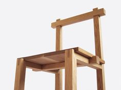 Wood Chair lauei: Brace by Designer and Craftsman Louie Rigano Design Furniture, Wooden Furniture, Chair Design, Wood Joints, Minimalist Furniture, Traditional Furniture, Furniture Inspiration, Wood Design, Wood Projects