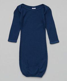 Look at this #zulilyfind! Midnight Blue Thermal Gown by Luca Charles #zulilyfinds