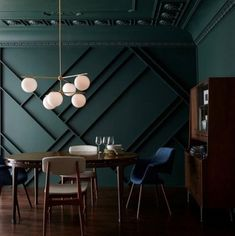 a green of a deep wooded sanctuary Behr Paint Colors, Green Paint Colors, Cubes, Dark Green Rooms, Green Dining Room, Dark Green Aesthetic, Up House, House Mouse, Dark Interiors
