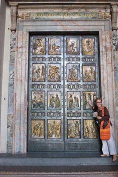 St. Peter's Basilica Pictures - Vatican City: Picture of the Holy Door of the Basilica of St. Peters