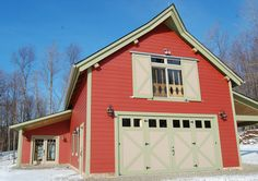 Timber Frame Timber Frame Barns | New Energy Works | Red Siding Colors