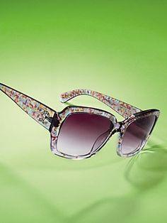 CHANEL Floral Print Sunglasses