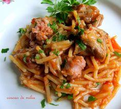 Quick One Pot Pasta: Italian Sausage & Linguine Dinner Pasta – Dinner Recipes Linguine Recipes, Pasta Recipes, Dinner Recipes, Pasta Dinners, One Pot Pasta, Recipe Steps, Bon Appetit, Food Videos, Food To Make