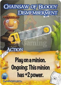 Chainsaw of Bloody Dismemberment - Treasures - Smash Up Card | Altar of Gaming