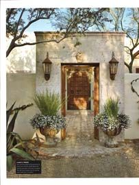 welcome - Berghoff Design courtyard portal to this Candelaria Design home.