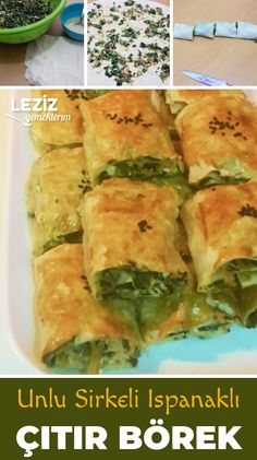 Fashion and Lifestyle Turkish Recipes, Ethnic Recipes, Turkish Delight, Spanakopita, Food Storage, Food And Drink, Favorite Recipes, Eat, Cooking
