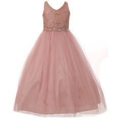Girls Easter Dresses, Girls Dresses, Flower Girl Dresses, Prom Dresses, New Years Wedding, Fall Wedding, Wedding Ideas, Black Sequin Prom Dress, Dusty Rose Dress
