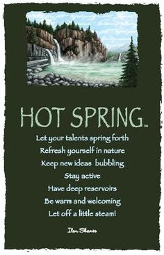 Advice from a Hot Spring