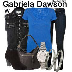 Inspired by Monica Raymund as Gabriela Dawson on Chicago Fire.