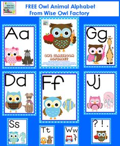free owl theme classroom printable and more back to school freebies on the August freebie page on the new Wise Owl Factory web site