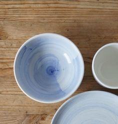 Schüsseln & Schalen - Schale, handbemalt in Kobaltblau - YOJI - ein Designerstück von Marie-Burkhard bei DaWanda