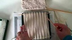 How to weave with yarn on the potholder loom, via YouTube.