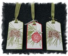 Labels christmas +autumn by Caroline Van den Neste Stampin Up Christmas, Christmas Tag, Christmas Crafts, Xmas Cards, Holiday Cards, Gift Cards, Beautiful Christmas Cards, Handmade Gift Tags, Book Markers
