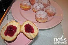 Berliner Yapımı – Nefis Yemek Tarifleri Donuts, Cheesecake, Muffin, Breakfast, Desserts, Food, Brioche, Frost Donuts, Morning Coffee