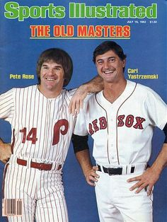 July 19 1982 Sports Illustrated Cover Only Pete Rose & Carl Yastrzemski Autographed. Pete Rose, Sports Magazine Covers, Si Cover, Sports Illustrated Covers, Philadelphia Phillies, Sports Photos, Cincinnati Reds, Boston Red Sox, Summer Girls