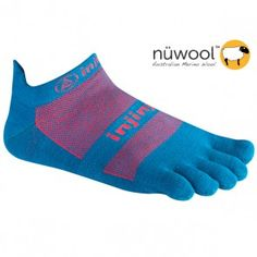 """I know they seem weird but injinjis are probably the best and most comfortable socks and keep you from getting that """"toe sweat"""" - I have a lot of the colors and would love more and more!"""
