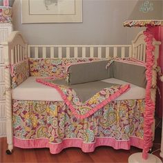 @rosenberryrooms is offering $20 OFF your purchase! Share the news and save!  Flirty Flowers Pink Crib Bedding Set #rosenberryrooms