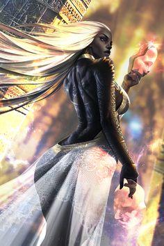 f Rogue Assassin hilvl Robes Masks urban City street night lights lg Black Love Art, Black Girl Art, Art Girl, Fantasy Art Women, Fantasy Girl, African American Art, African Art, Chica Fantasy, Black Anime Characters