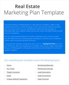 Form Templates Marketing Plan Templates 20 Formats Examples And Complete Guide Marketing Proposal, Marketing Goals, Small Business Marketing, Real Estate Marketing, Marketing Plan Sample, Strategic Marketing Plan, Marketing Plan Template, Physical Education Lesson Plans, Pe Lesson Plans