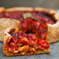 Vegan Chicago Style Deep Dish Pizza | Made with easy homemade cashew mozzarella and spicy sauce | Ready in 1 hour | Cheesy, saucy, delicious!