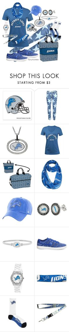 """""""Detroit Lions - Kick Off the Playoffs!"""" by florymcintee ❤ liked on Polyvore featuring WinCraft, 5th & Ocean, Forever Collectibles, '47 Brand, NIKE, Little Earth, For Bare Feet and aminco"""