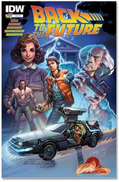 Back to the Future #1 by J. Scott Campbell, colours by Nei Ruffino *