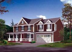 Elevation of Country House Plan 87438