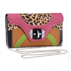 See my full listing: https://www.opalnote.com/romack/listing/2/neon-animal-print-clutch #Opalnote