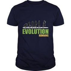 Evolution running great gift for any running lover - Tshirt