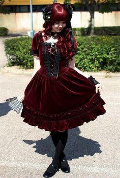 Red velvet Lolita... as sweet as the cake.